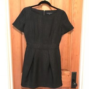 French Connection Croc Luxe black dress size 10